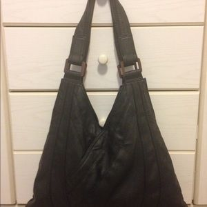 Kate Landry Black Leather Bag.